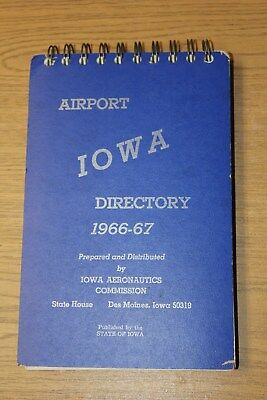 IOWA Airport Directory 1966-67 Book