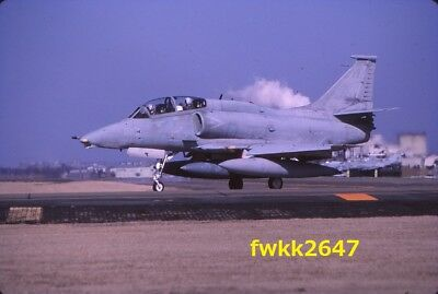 Original 35mm Aircraft Color Slide-USMC OA-4M Skyhawk,Yokota AB,Japan