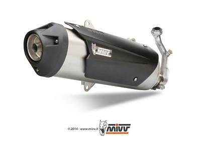 Exhaust Line Yamaha X-City 125 06>13 MIVV Urban stainless steel brushed/abs