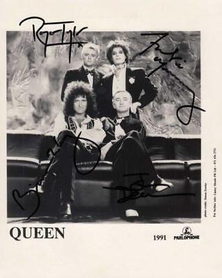 REPRINT - QUEEN Freddie Mercury - May Autographed Signed 8 x 10 Photo Poster