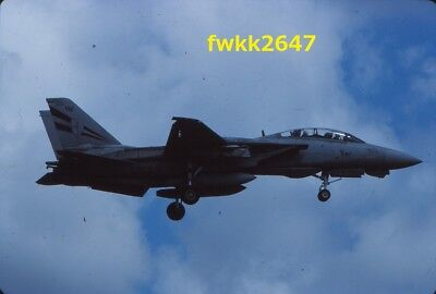 Original 35mm Aircraft Color Slide-F-14A Tomcat,VF-154,CVW-5,NAF Atsugi,Japan
