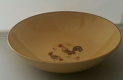 "Vintage Harmony House Honey Hen 9"" Round Serving Bowl Chicken Rooster Design"