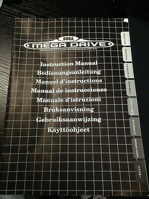Sega Mega Drive Console Instruction Manual Booklet ONLY