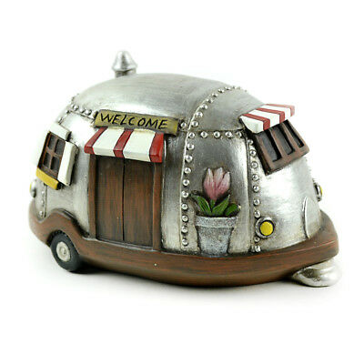 Miniature Dollhouse FAIRY GARDEN - Camper with Welcome Sign - Accessories