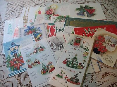 LOT of Vintage CHRISTMAS CARDS 40s-MidCentury LOVELY ASSORTMENT XMAS GREETINGS 5