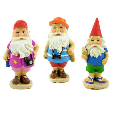 Miniature Dollhouse FAIRY GARDEN - Traveling Gnomes - Set of 3 - Accessories