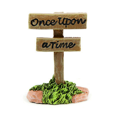 "Miniature Dollhouse FAIRY GARDEN - ""Once Upon a Time"" Sign - Accessories"