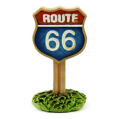 Miniature Dollhouse FAIRY GARDEN - Route 66 Sign - Accessories