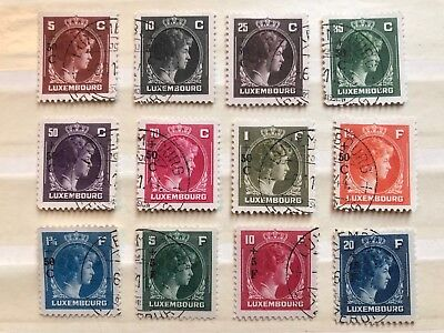 12 1944  Luxembourg Stamps - ref171