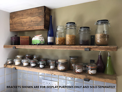 Reclaimed Old Rustic Old Scaffold Wood Board Shelves Industrial Various Lengths
