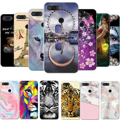 Patterned Slim Thin Clear Soft TPU Case Cover For Xiaomi Mi A1 A2 8 Lite S2 4X 5