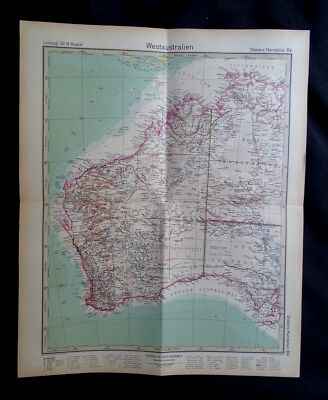 Antique map, Western Australia, Printed-1930.