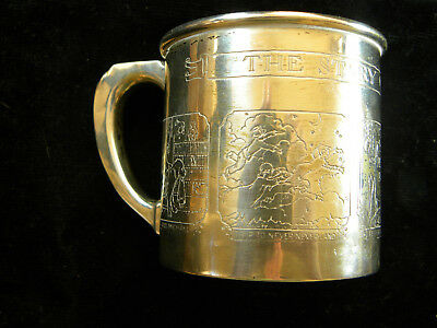 """Webster Sterling Child's Peter Pan Story Sterling Silver 2 1/2"""" Cup No Monogram"""