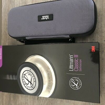 3M Littmann Classic III Stethoscope Tube - Black with Case