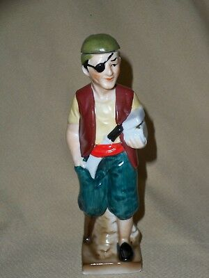 Vintage Pirate Porcelain Figural Bottle Decanter Fuller Brush Co. Advertising