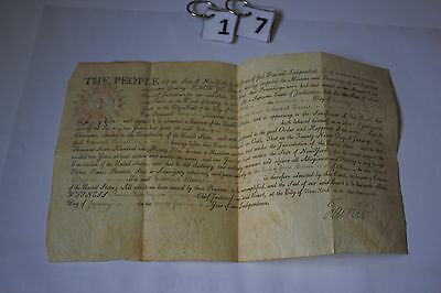 1797 RARE Citizenship Paper Signed by Revolutionary War Officer NY JAMES FAIRLIE