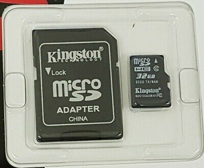Kingston Micro SD 32GB SDHC Memory CARD Class 10 With SD ADAPTER