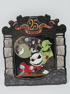 Disney Parks Nightmare Before Christmas 25 Years Of Fright Jumbo LE Pin 1500 NBC