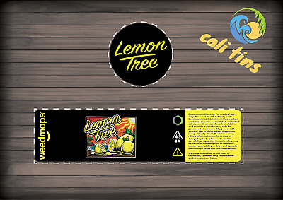 10x Lemon Tree NEW 60ml Cali Tin JAR labels