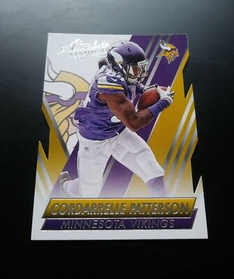 Cordarrelle Patterson Vikings Cut #59 Panini Absolute 2014 NFL Football Card