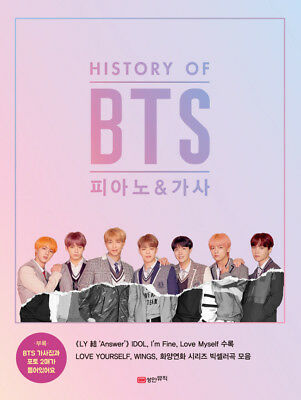 BTS - History of BTS Piano & Lyrics Book / Official KPOP MD / Free Shipping