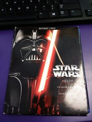 Star Wars: Episodes I-III (Blu-ray/DVD 6 Disc Set, 2013)