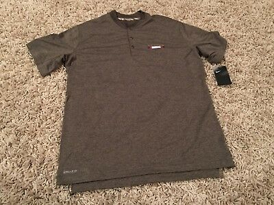 NWT Men s NIKE NFL Houston Texans Salute to Service Dri-Fit 3 Button Shirt - 0d1f6e0d6
