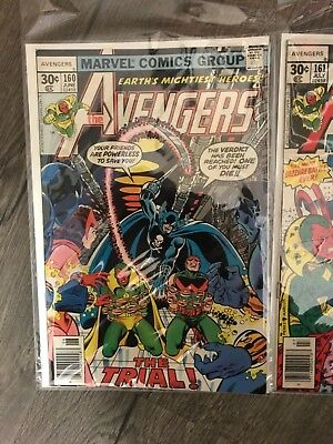 Avengers Marvel Comic Book Lot 6 Books Bronze Age Black Panther Beast Vision