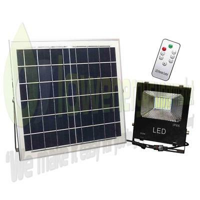 Solar Powered 30w LED Outdoor Light Rechargeable Shed Garden Security Lamp Light