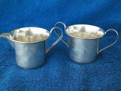 Vntg Manchester Sterling Silver Cream & Sugar Not Weighted