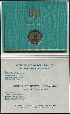 Vatican - 2 euro 2013 - 28th World Youth Day - perfect condition !!!