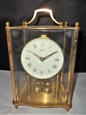 Vintage Large Kundo West German Brass Aniversary Clock for Spares or Repair