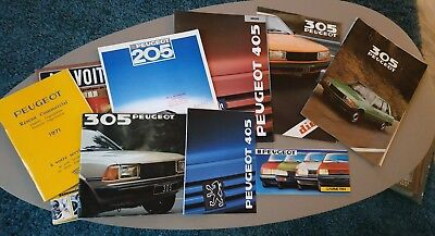 Lot Catalogue Dépliant Brochure Peugeot 205~ 305 ~ 405