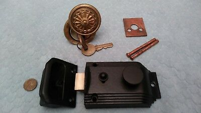 Rim Night Latch Lock 2-3/8 Inch Backset Restored