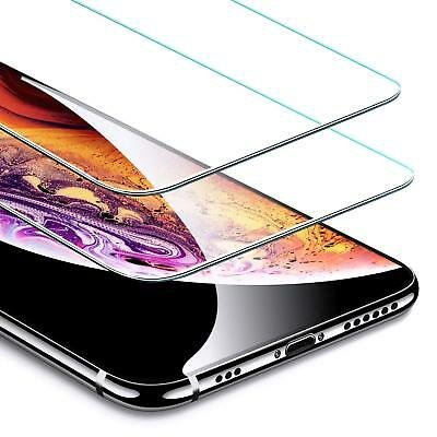 2 Pack Premium Screen Protector Tempered Glass For iPhone X Xs Max XR