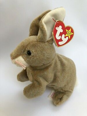 1999 TY Beanie Baby Nibbly Bunny Plush Toy Collectible