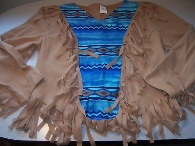 Pocahontas Native American Indian Womens Halloween Costume Size L Xl Wig
