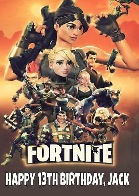 FORNITE d PERSONALISED BIRTHDAY CARD - ANY NAME AGE RELATION