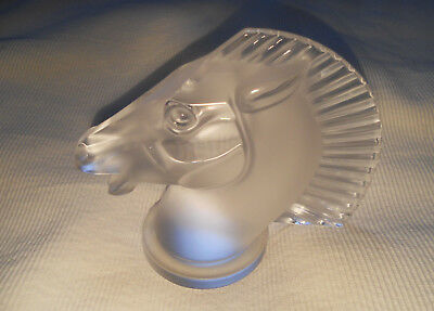 Lalique Classic Longchamp Horse Clear Crystal Sculpture Ornament Car Mascot