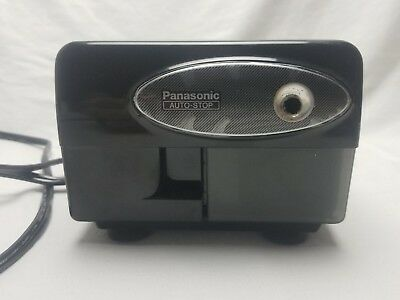 VTG Black Panasonic Electric Pencil Sharpener KP-310 Auto Stop