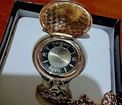 Phonograph Pocket Watch W/ Black & Gold Dial Thomas Edison 1877 Men's !!!