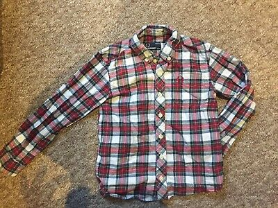 Fred Perry Tartan Shirt 4-5 Years