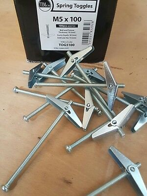 Timco Plasterboard Spring Toggle Anchors Toggles Sizes & Amounts Available