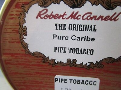 ROBERT McCONNELL PURE CARIBE Collectible Pipe Tobacco Tin  Holds 1.75 OZ.
