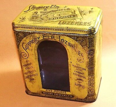 Old Pharmacy Counter Top Display Litho w/ Glass Front by Henry Thayer & Co.