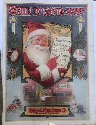 1926 Spiegel May & Stern Co Santa Claus Christmas Cataloge First Year Illinois