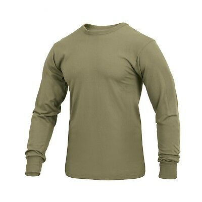 Tactical Long Sleeve Military T-Shirt AR 670-1 Coyote Brown Rothco 3727