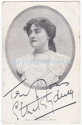 Stage actress Ethel Sydney in The Toreador. Signed postcard dated 1903