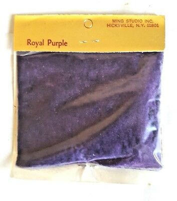 Minglo Suede Flocking Powder Lot of 4 Bags 0.5 oz each Royal Purple Vintage