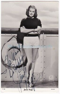 Stage, film, tv actress Janis Paige. The People Signed photograph